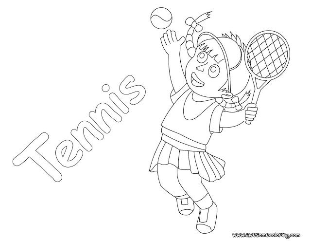 Awesome tennis coloring page ready to download or print. Fun ...