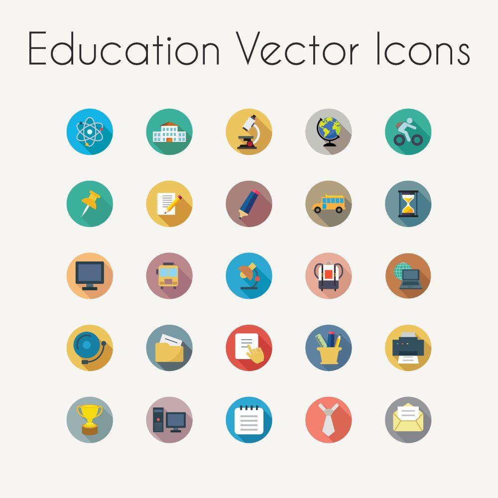 Education Vector Icons - AI | EPS | SVG | PDF on Behance