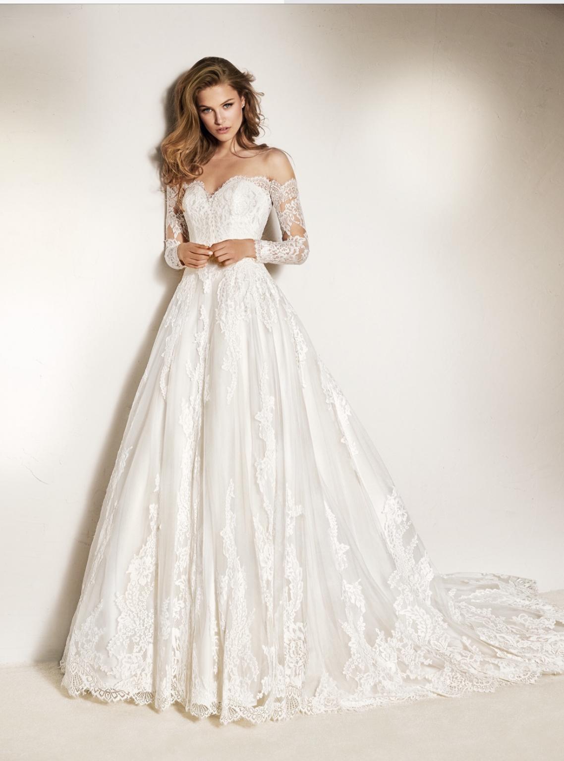 Pronovias charley size sample wedding dresses in