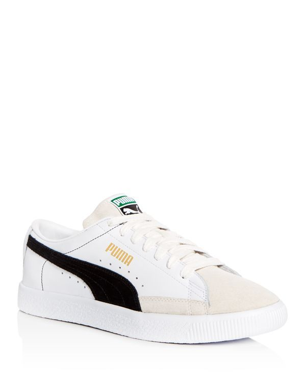 Puma Men s Basket Leather   Suede Lace Up Sneakers  f524ef831