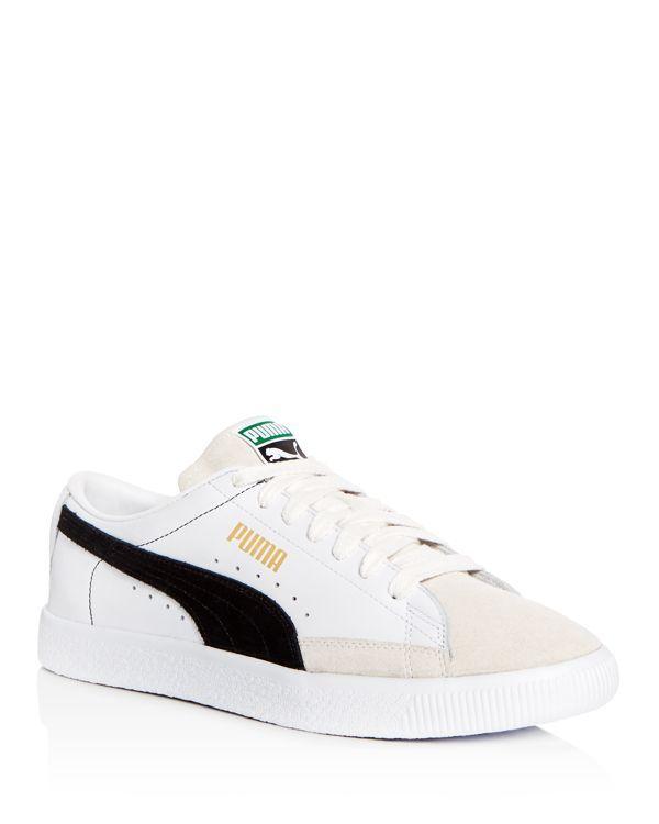 0e309e237961 Puma Men s Basket Leather   Suede Lace Up Sneakers