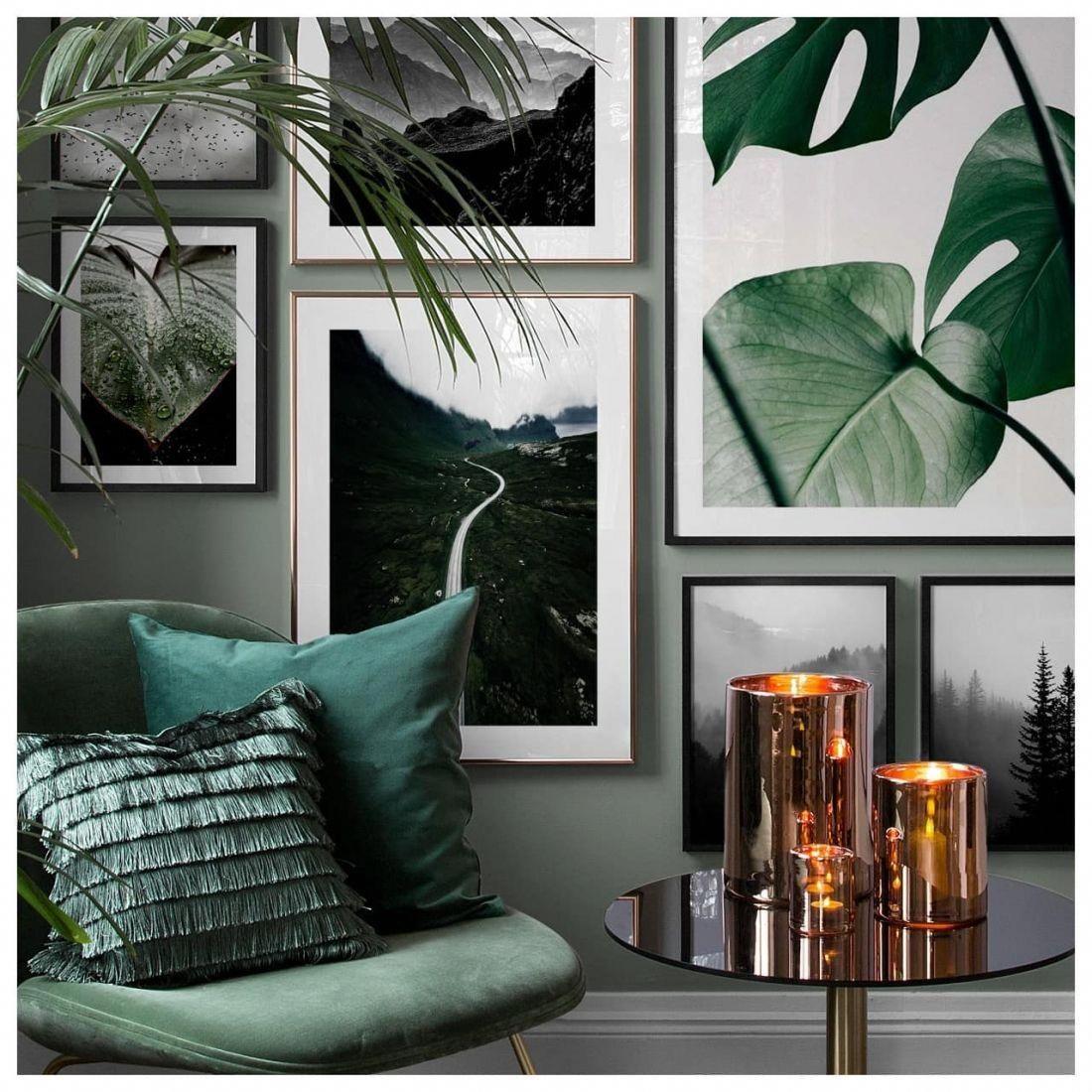 Botanical Interior Design Ideas Green And White Living Room Whitelivingroom Living Room Green Emerald Green Living Room Minimalist Living Room Decor