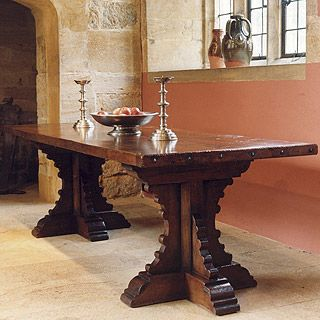 medieval dining room table | Medieval Style Trestle Table. I would really love to make ...