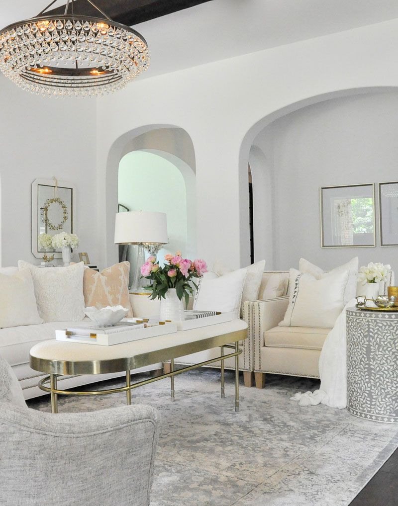 7 Simple Home Refresh Ideas Gold Living Room White Living Room
