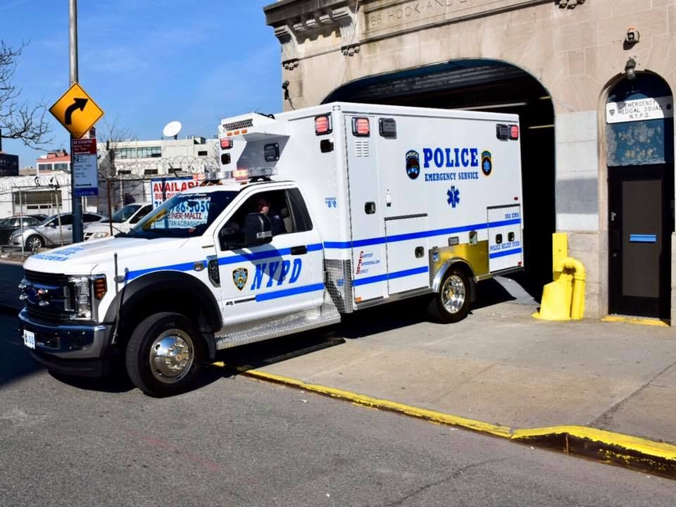 New York New York City Police Department Emergency Services Vehicle Police Truck Police Cars Police