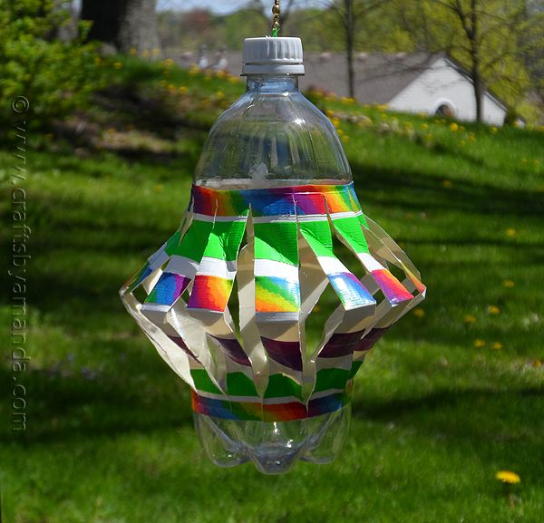 Recycled Plastic Bottle Wind Spinner | Recipe | Wind ...