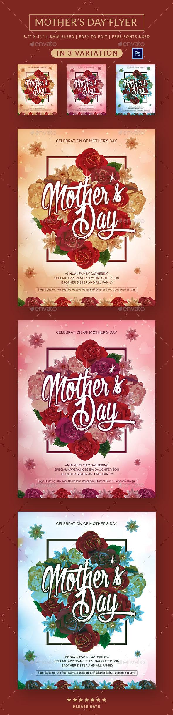 MotherS Day Flyer  FontsLogosIcons    Font Logo