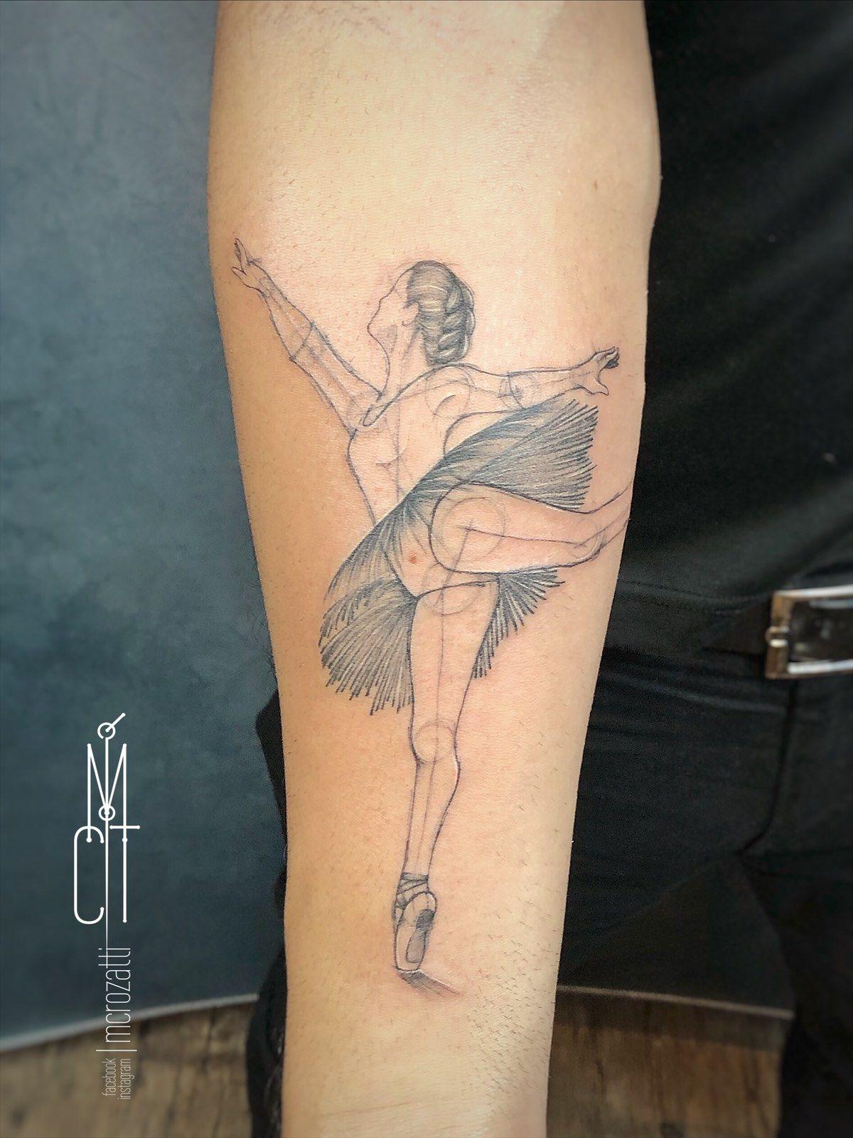 ✧ Bᴀʟʟᴇʀɪɴᴀ ✧ . Para o Charles. Feita com base em uma foto muito especial, de uma pessoa muito especial. Valeu Charles! Foi um prazer! 🌹 . . . .  #tattoofrases #frasetattoo #escritatattoo #artenocorpo #tatuagemsp #lineworktattoo #tatuagemfineline #besttattoos #lovetattoos #tatuagemideal #tattooink #tattootime #tattoolifestile #tatuadorasbrasileiras #tatuagemdelicada #tattoofineline #tattoolovers #tattoo #sptattoo #cutetattoo #tatuagemfeminina #tattooer #mcrozatti #inkalma