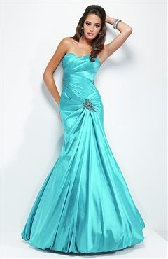 Pleated Thigh Gathered Bubble Hem Prom Dress Style Code: 08643 $118