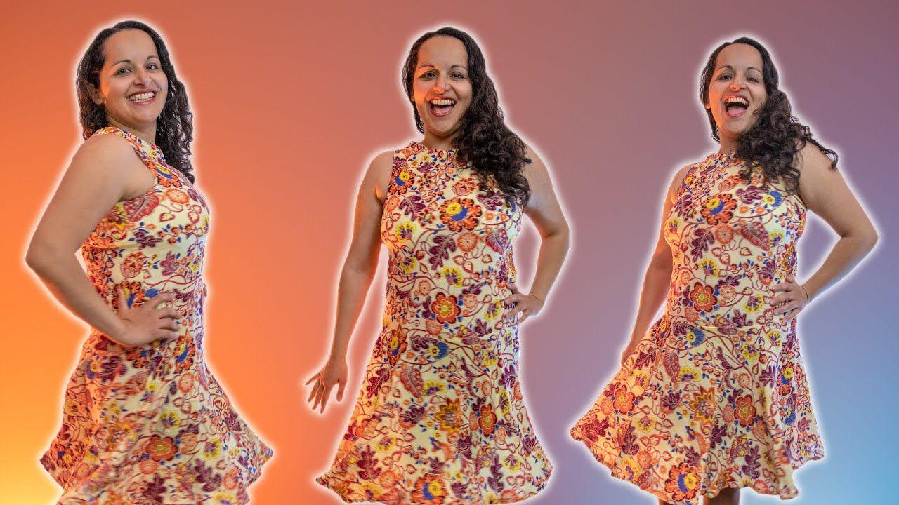 Schnitt vom Kleid nehmen / Nähen für Anfänger / Lieblingskleid kopieren - YouTube