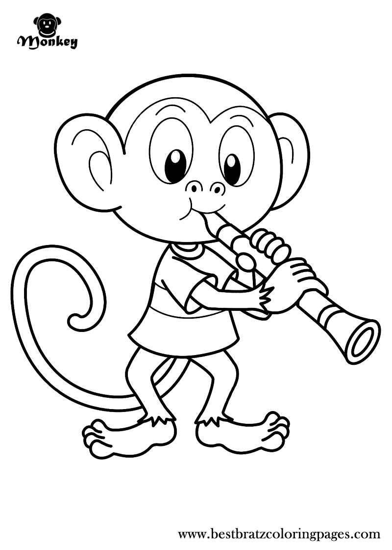 christmas monkey coloring pages | Free Printable Monkey Coloring Pages For Kids | Animal ...