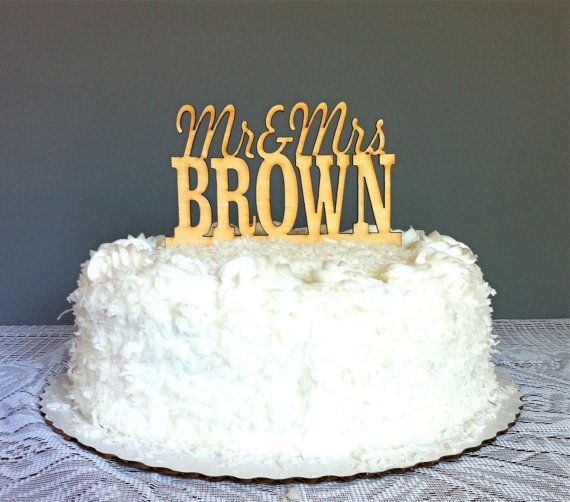 Personalized Last Name PROMO Wooden Wedding Cake Topper Mr And Mrs Design YOUR