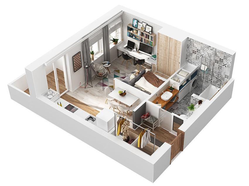 54m2 de pequeños valores.   Decorar tu casa es facilisimo.com