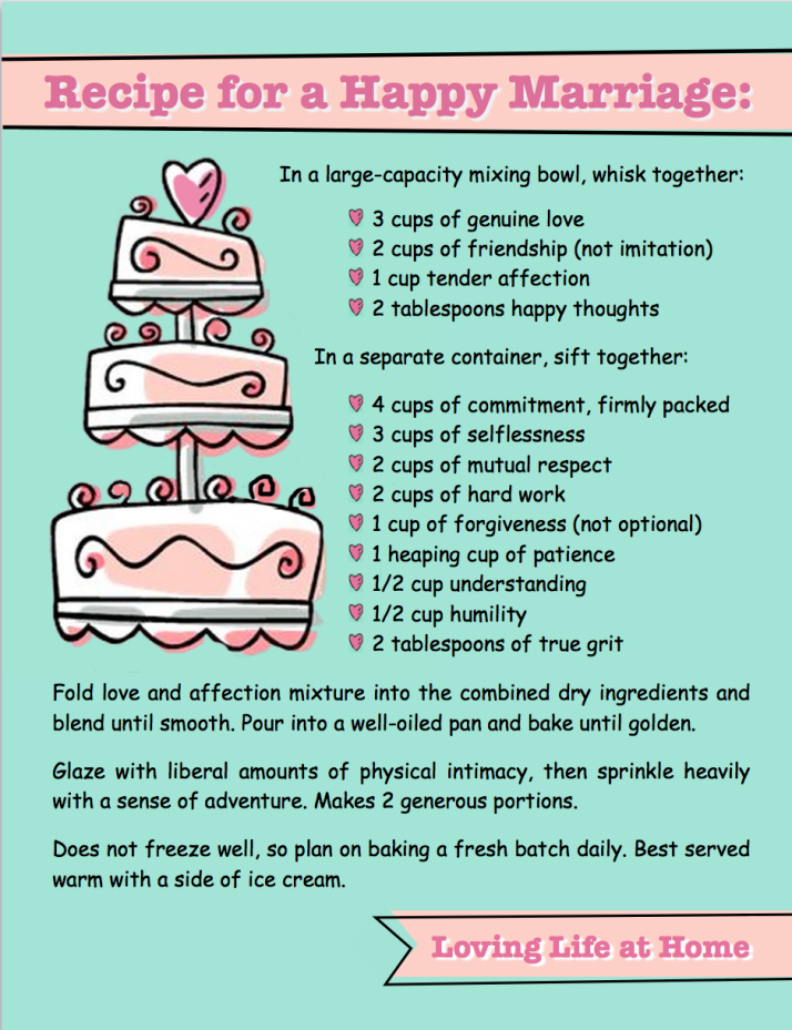 A Recipe For a Successful Marriage