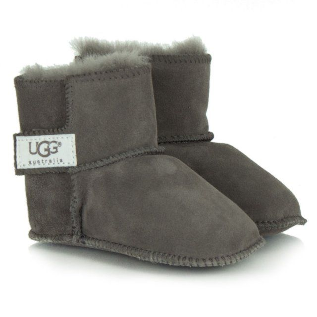 Erin Grey Soft Suede Baby Boot | Boots
