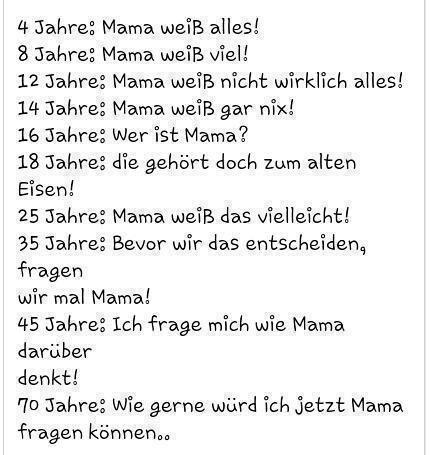 Mama Im Laufe Der Zeit Lustige Spruche Spruche Coole Spruche