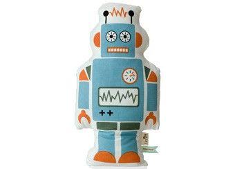 Domo Kussen Baby : Vrolijk kussen robot mr. large 50 x 26 5cm ferm living kinderen