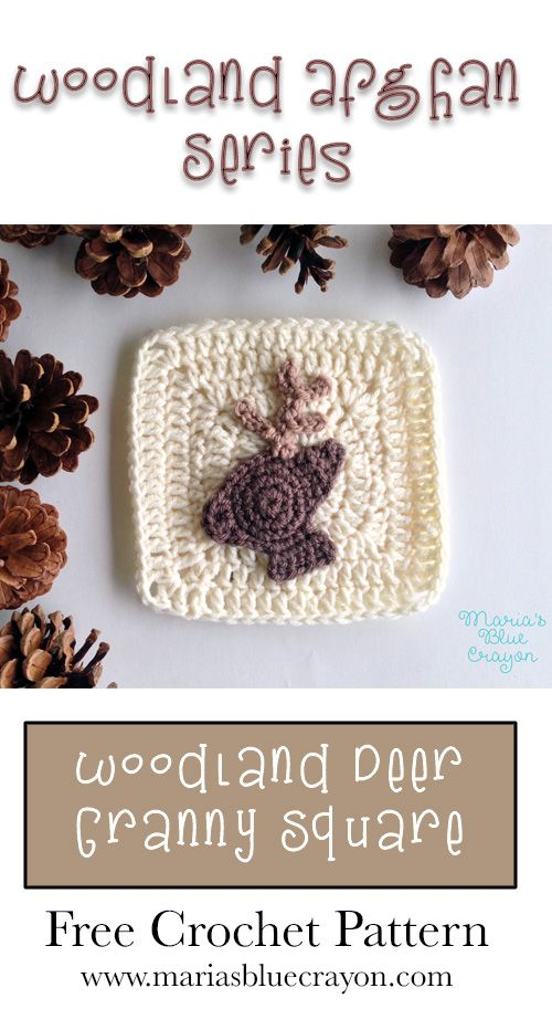 Woodland Deer Granny Square | Woodland Afghan Series | Free Crochet ...