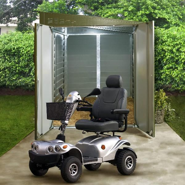 A Strong And Secure Storage Unit That Keeps Your Mobility Scooter Out Of  Site, Protecting