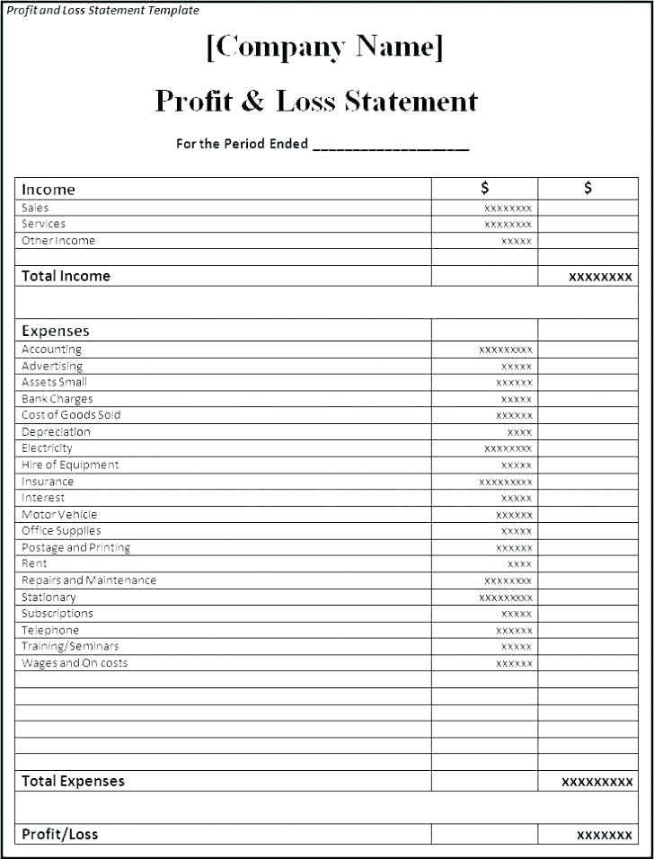 Personal Profit And Loss Templates Free Pl Statement Template Medium Sample Personal Pr Profit And Loss Statement Statement Template Mission Statement Template