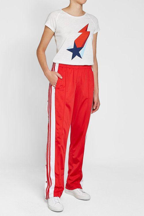 Adidas originali adibreak rotto i pantaloni della tuta stylebop rosso