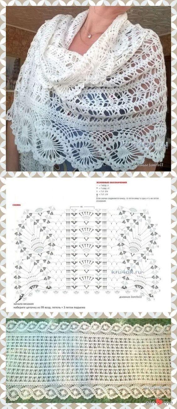 Вяжем воздушные шарфы крючком: 15 интересных моделей со ...