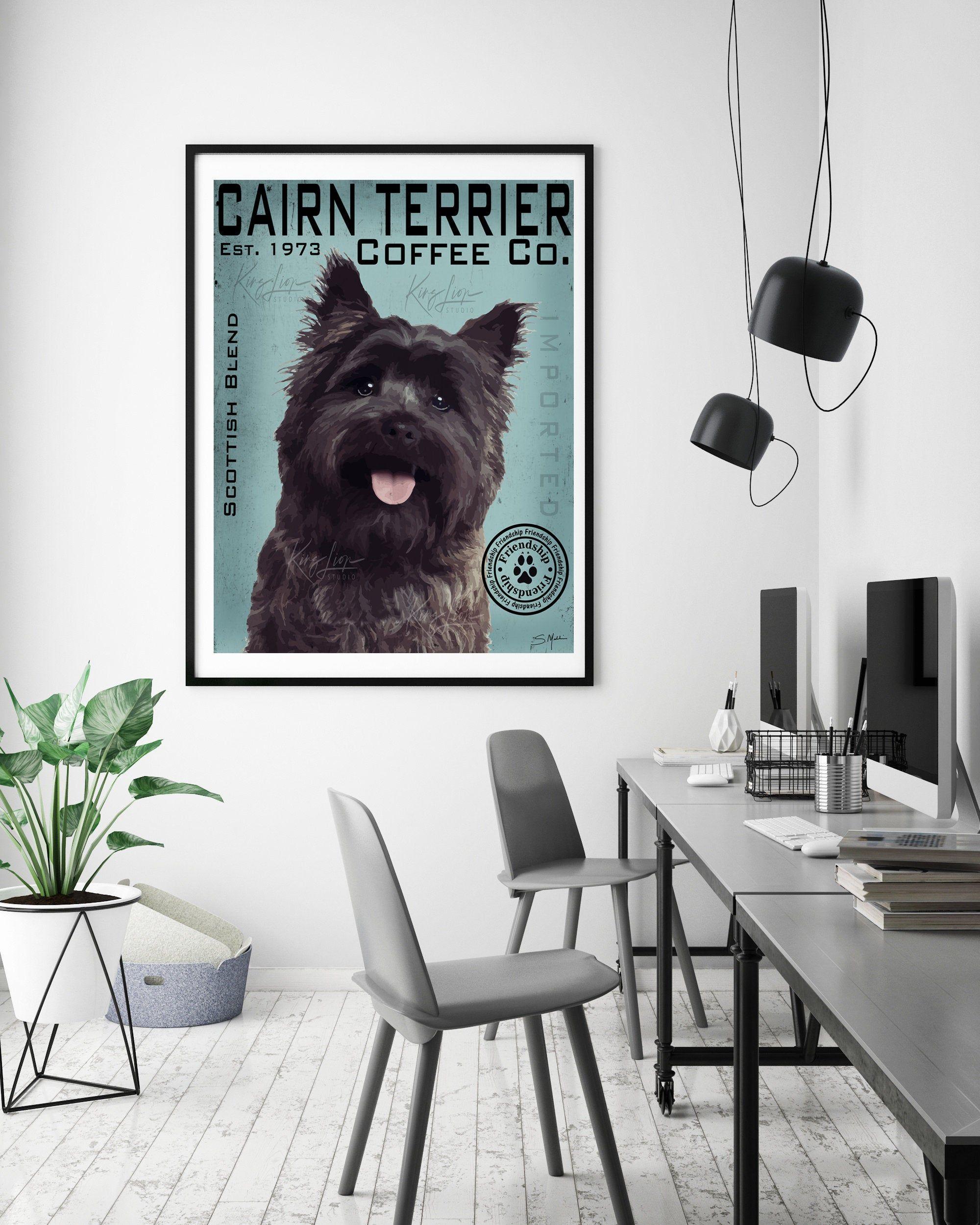 Digital Download Black Cairn Terrier Dog Digital Art