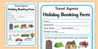 Travel Agents Booking Form Travel Agent Holiday Travel Role