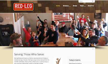 Brewery Website Design For Red Leg In Colorado Springs Colorado Springs Colorado Social Media Video