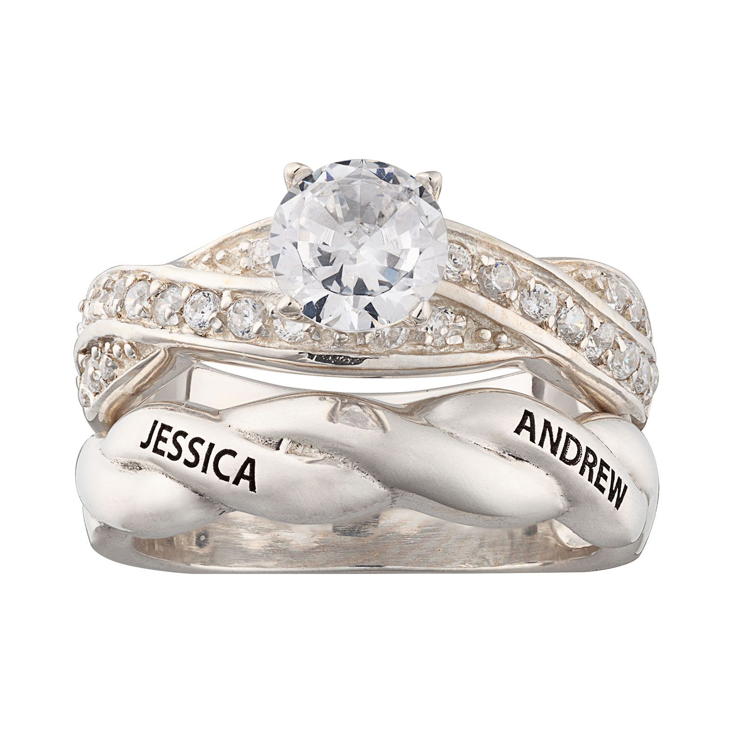 Promise Her Forever With This Two Piece Wedding Set Planet