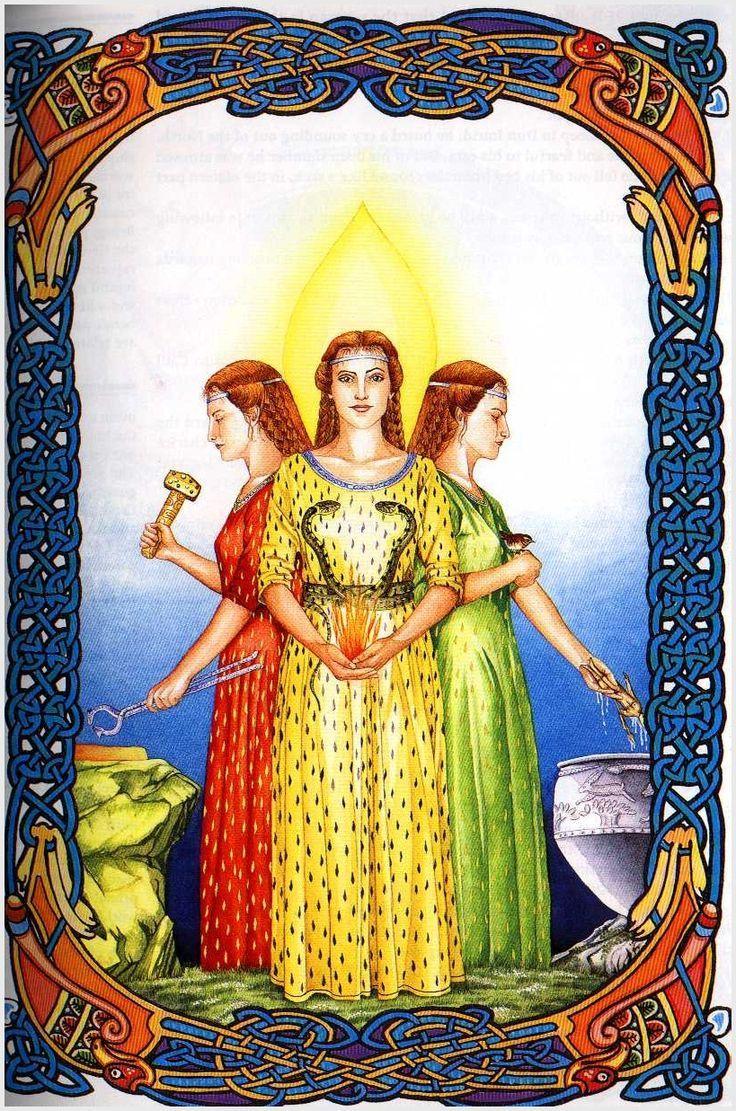 Brigid was a goddess of pre-Christian Ireland. She appears in Irish  mythology as a member of the Tuatha Dé Danann. She is… | Celtic gods,  Celtic goddess, Celtic art
