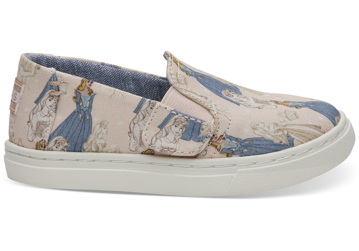 b150fea19f263 Disney X TOMS Pink Sleeping Beauty Tiny TOMS Luca Slip-Ons in 2019 ...