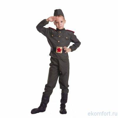 """Карнавальный костюм """"Военный"""",  для мальчиков  В комплект входит :головной убор, китель, штаны и имитация обуви. Выполнен из материалов: трикотаж. Рассчитан на рост 130-140 см"""
