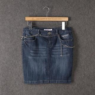 Washed Denim Skirt from JVL