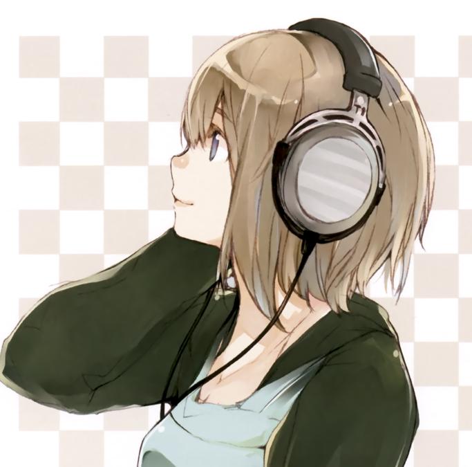 anime girl with headphones Google Search ️Anime Girl ️