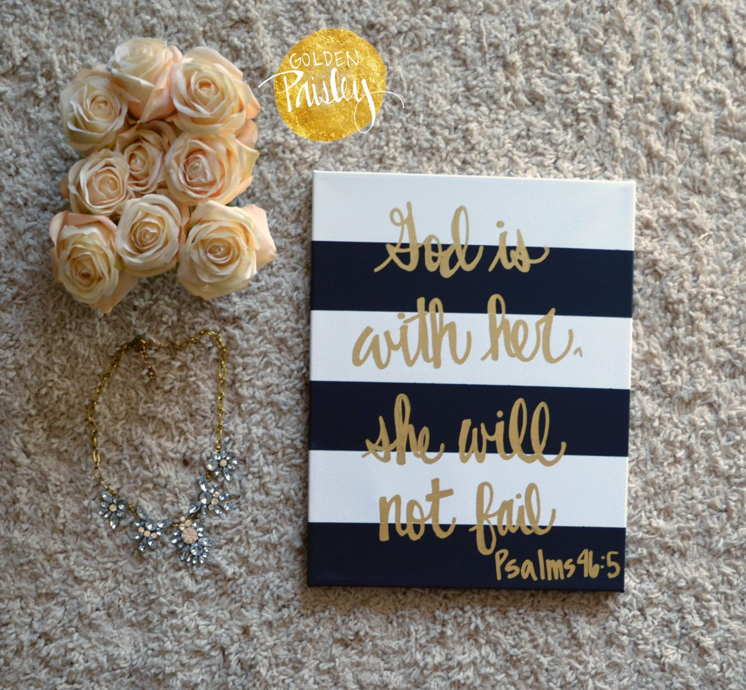 Hand painted lettering wall decor