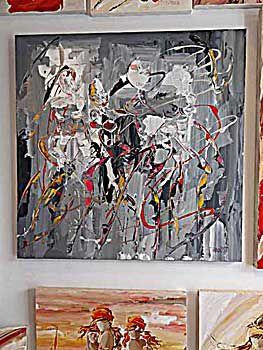 techno gris 90x90cm ann e2011 artiste peintre adaoust du sud de la france peinture oeuvre d 39 art. Black Bedroom Furniture Sets. Home Design Ideas