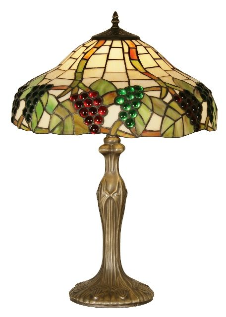 grapes ii 16 tiffany table lamp oaks lighting pinterest green