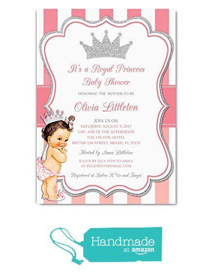 Princess Baby Shower Invitations Girl Royal Princess Baby Shower