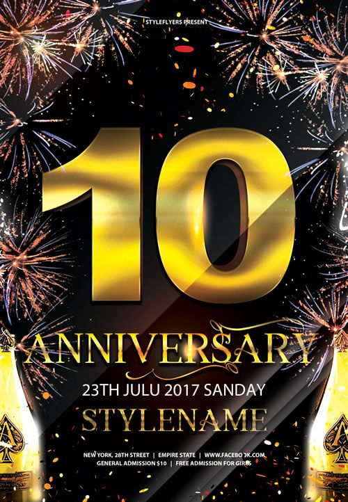 Anniversary Party Event Free Flyer Template  HttpFreepsdflyer