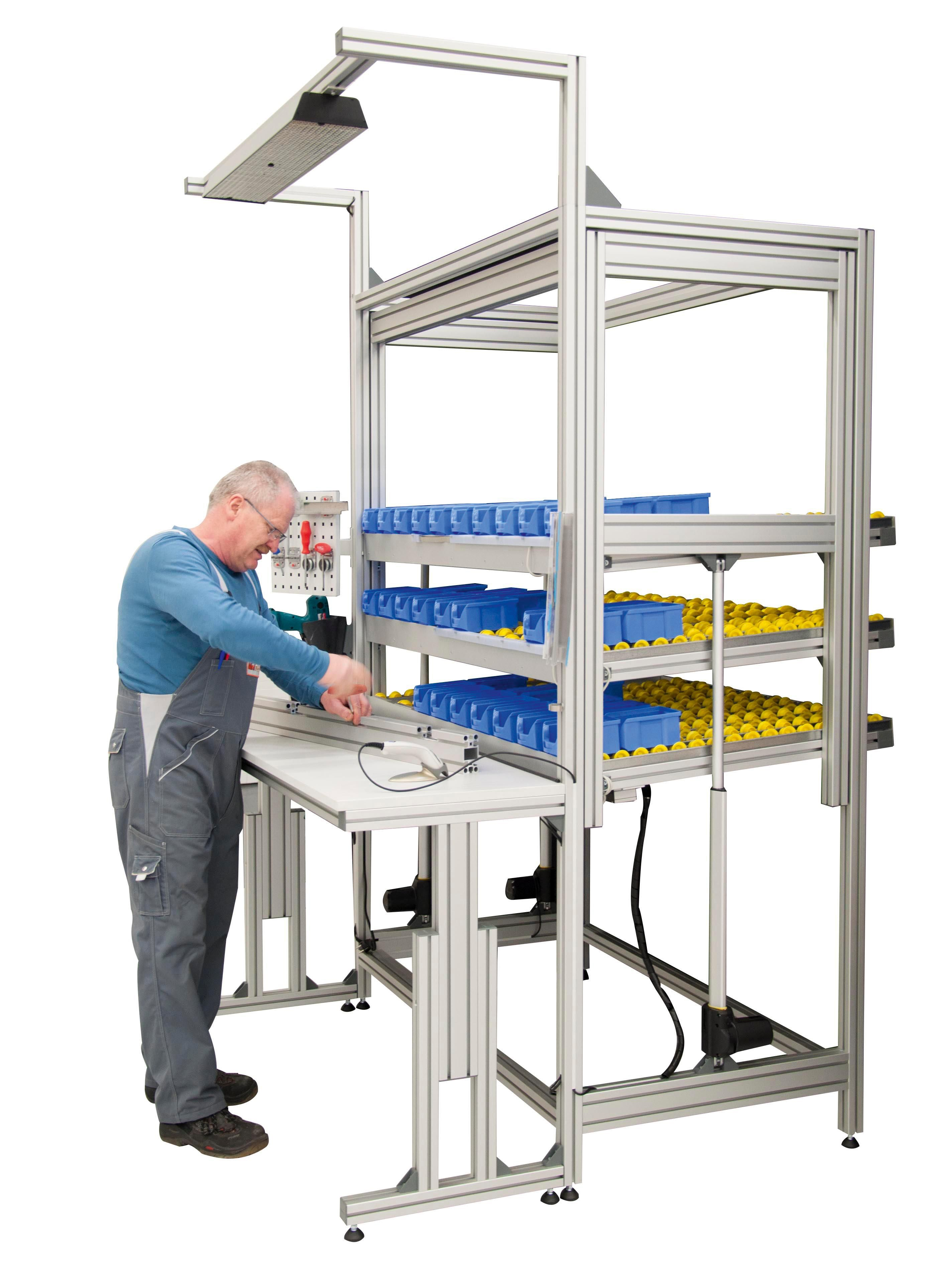 Assembly Tables Workstations : Features height adjustable assembly table and material