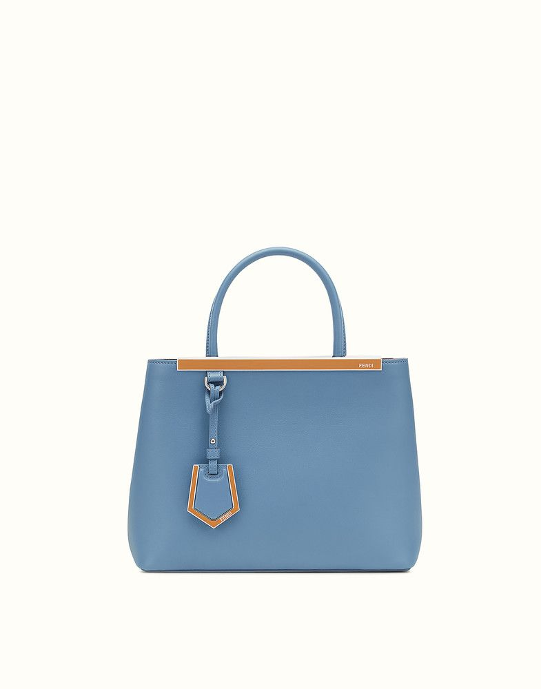 397ccbde926e FENDI PETITE 2JOURS - Cerulean blue leather shopper bag - view 1 detail
