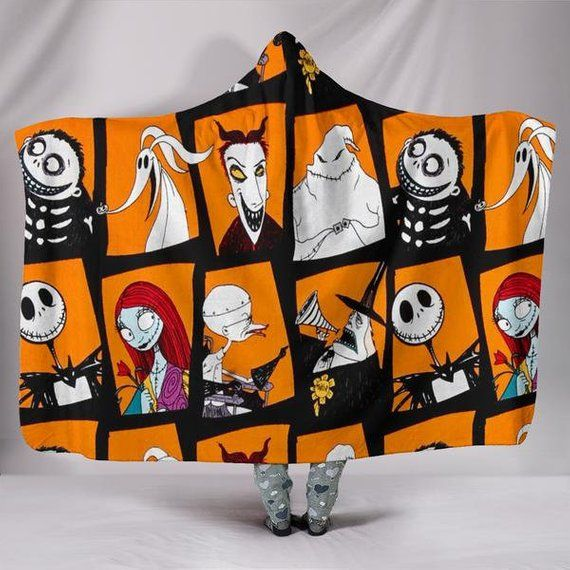 Cool Nightmare Before Christmas Gifts: Nightmare Before Christmas Characters Hooded Blanket