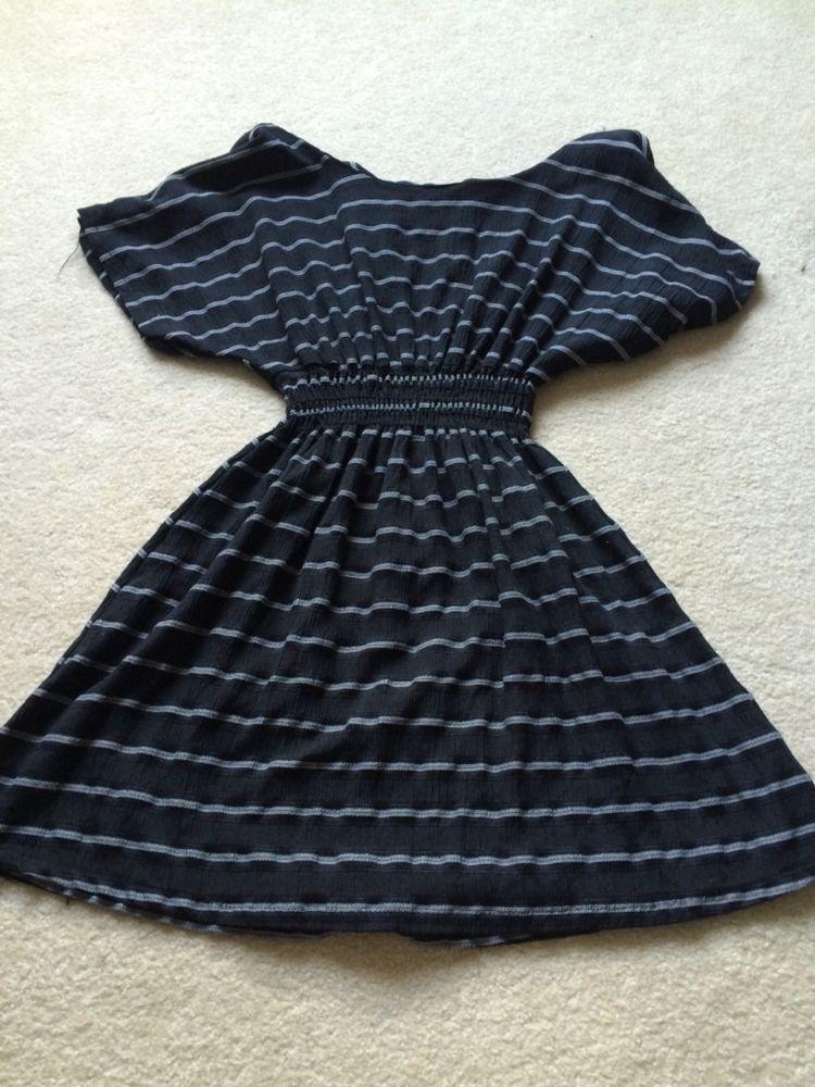 Small Black and White Striped XXI Dress #XXI