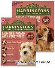Harringtons Wet Salmon Potato Dog Food Trays 8 X 400g Dog Food