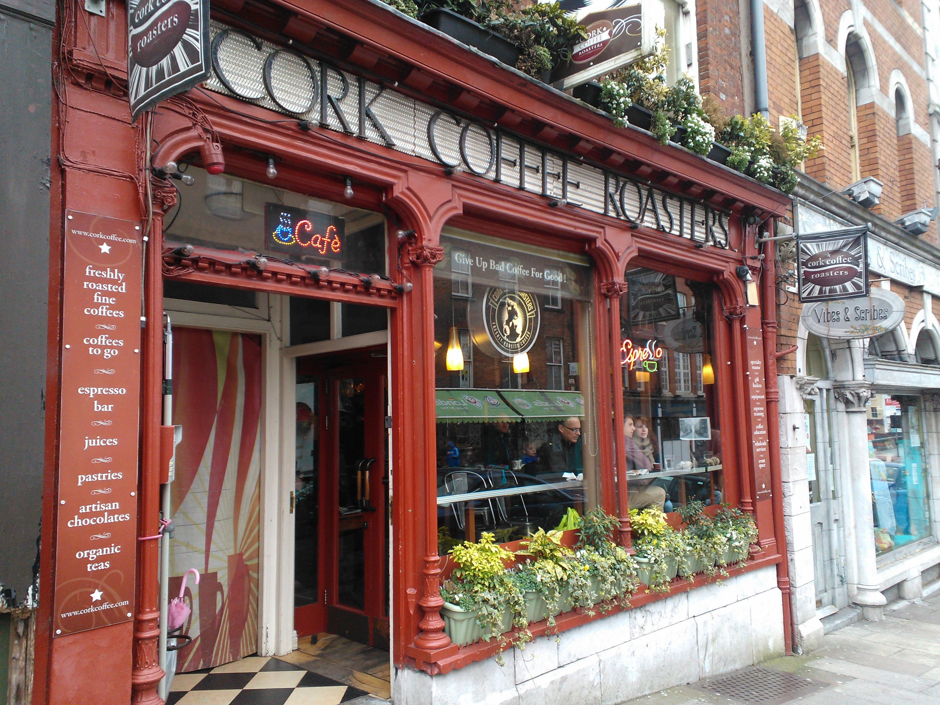 cork coffee roasters, mccartney street, ireland. damn good coffee