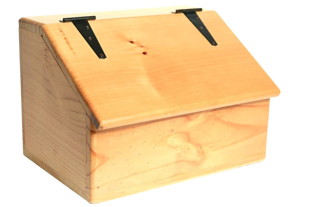 Storage Box Wooden Sloped Top Spacious Storage Compartment Wooden Boxes Hinged Lid Storage Box
