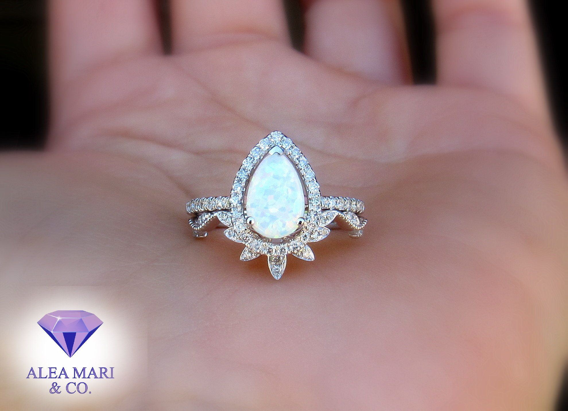 Ready to gift her. Sale low price Natural Opal Engagement Ring 925 Sterling silver stamped,engagementWedding ring All sizes