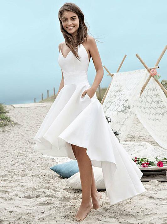High Low Wedding Dresses Beach Informal