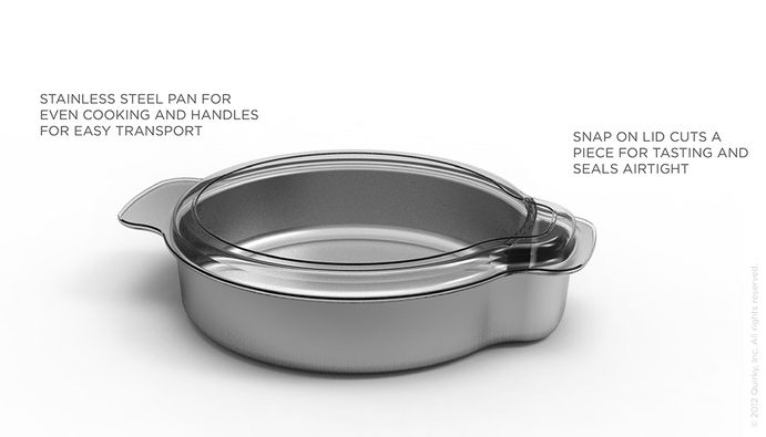 Nibble | Quirky Products | CAKE PAN - Snap on lid cuts a piece for tasting and seals airtight